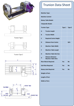 Trunnion Data Sheet